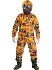 Childs Quarantine Zombie Costume Kids Halloween Fancy Dress Horror Bloody Hazmat