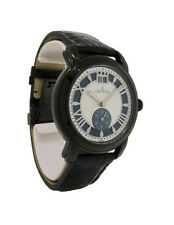 Croton CR307994BSBK Men's Roman Numeral Plumb Mother of Pearl Alligator Watch