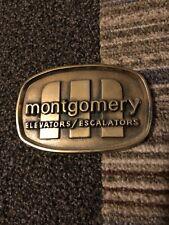 RARE Montgomery Elevator Escalators Promotional Company Add Belt Buckle