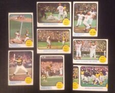 1973 Topps World Series Game #202 204 205 206 207 208 209 Oakland A's Reds (C122