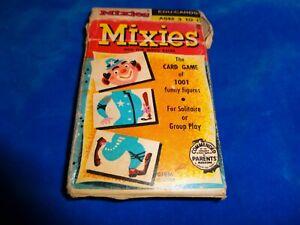 Vintage 1956 Edu-Cards Children's Card Game - Mixies