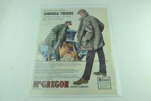McGregor Surburbia Tweeds Milium Full Page Print Ad 460