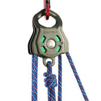 Double Pulley Block Heavy Duty Hauling Rigging Gear for Climbing Rescue 32KN