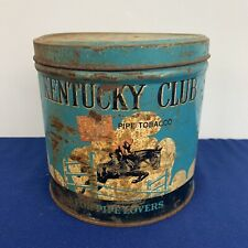 Vintage Kentucky Club Pipe Tobacco Fine Cut Tin by Penn Tobacco Co
