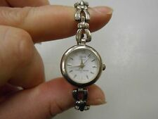 Sterling silver Geneve ladies wristwatch! WORKING AND VERY NICE! CHECK IT OUT!