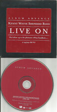 KENNY WAYNE SHEPHERD Live On ADVNCE DIFFERENT ART & CARDED PACKAGING PROMO CD