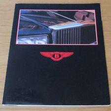 BENTLEY EIGHT MULSANNE TURBO R  SALOON CONTINENTAL CONVERTIBLE Brochure 1984-85