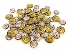 7 Wonders Replacement / Expansion Silver & Gold Coin Token Set 70pc