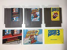 Nintendo NES GAMES Super Mario 1 2 3 TRILOGY Instruction Manual Booklets TESTED