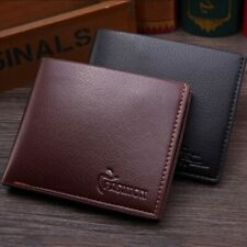 Men's Leather Bifold ID Card Holder Wallet Billfold Short Cash Coin Purse Clutch