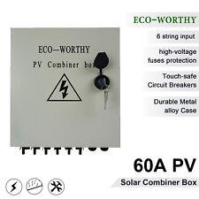 eco 6-string solar combiner box 10a circuit breaker control for solar panel