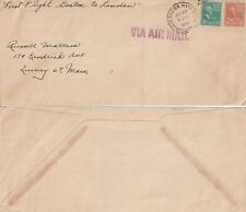 US 1945 FIRST FLIGHT COVER BOSTON MASS TO LONDON ENGLAND