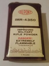 Vintage DuPont Imr-4350 Smokeless Powder 16 Ounce (1 Pound) Can-Empty