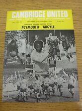 11/02/1978 Cambridge United v Plymouth Argyle  (Excellent Condition)