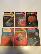 Vintage Lot of 6 The Magazine of Fantasy and Science Fiction 1975 Isaac Asimov