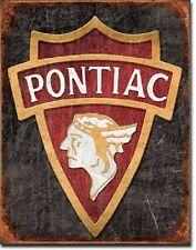 Pontiac 1930 Logo Car Dealer Serivce Parts Garage Distressed  Metal Tin Sign New