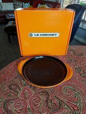 Le Creuset Cast Iron 25cm Round Grill - VOLCANIC ORANGE