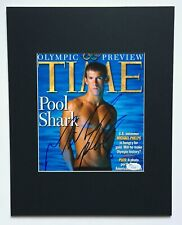 MICHAEL PHELPS JSA  2005 signed autograph Olympics Gold Medal matted