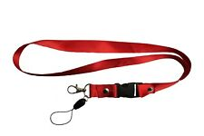 RED LANYARD KEYCHAIN PASSHOLDER NECKSTRAP CLASP At The END .. New