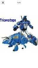 BMB Volcanicus Dino Force Robot Team Blue Triceratops Transformer, Metal Version