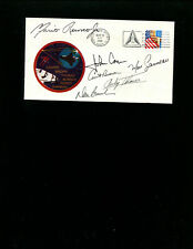 Space Launch Cover STS-77 Endeavor Complete Crew or 6 Astronauts Autograghs