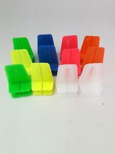 Brick Line blocks 12x L shaped corner blocks for brick laying, multiple colours