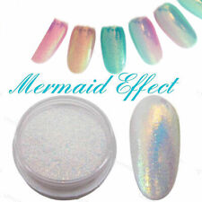 6Pcs Pigment Nail Art Powder Dust Iridescent Trend Mirror Effect Glitter Tips