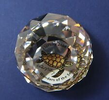Rare Swarovski Crystal Eternity 2006 Round Paperweight Turtle 40Mm Signed New