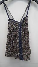 Blue Floral Vest Top From Hollister size XS