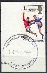 (89146) GB Used England Winners Football World Cup Harrow  Wembley 1966 ON PIECE