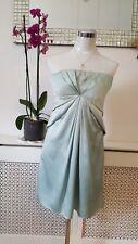 BCBG MAXAZRIA Mint satin Silky Ladies Cocktail Wedding Party Dress us 10 uk 14
