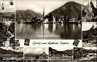 Rottach Egern Mehrbildkarte 1963 Riederstein Wasserfälle Wallberg Seilbahn u.a.