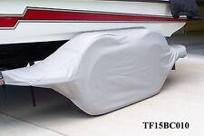 BASS CAT-GREY:Boat trailer fender/tire storage covers exact fit tandem fiberglas