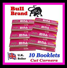 10 BOOKLETS  BULL BRAND PINK CIGARETTE  ROLLING PAPERS  (SAME AS PINK RIZLAS)