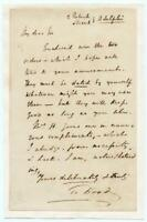 1827 Thomas Hood Autographed Letter ALS English Poet Author For Punch Died At 45