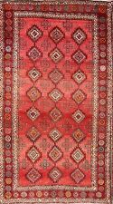 """Antique Geometric Coral/Rose 5x9 Balouch Persian Oriental Area Rug 9' 4"""" x 5' 2"""""""