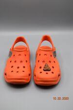 CROCS Orange Unisex Clogs Shoes size 13 New                              tub10