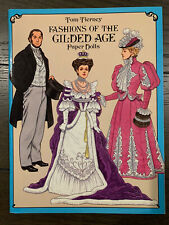 Fashions of the Gilded Age Paper Dolls by Tom Tierney uncut