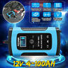 12V 6A Smart Intelligent Car Battery Charger Automobile Motorcycle LCD  e e ♡