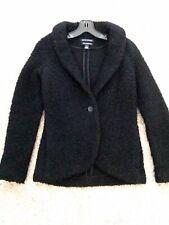 Banana Republic Women's Texture Black Jacket Sweater Sz Small Italian Yarn Wool