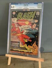 DC Comics The Flash #175 Graded CGC 6.5 1967 Silver Age 2nd Superman Race Key