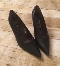 Etienne Aigner Black Leather high heel Shoes SZ/ 6 1/2