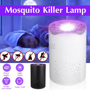 Safe Photocatalytic Mosquito Killer Lamp Zapper LED Light Fly Insect Trap   *