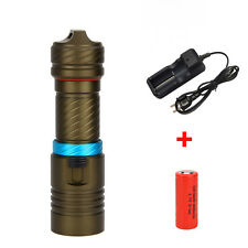 8000LM XML L2 LED Scuba Diving Flashlight Torch 26650 Light LAMP Underwater 100m