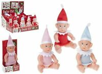 Elf Baby - Elf Sits On The Shelf For Christmas Accessory Boy Girl Red Pink Blue