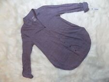New Sonoma Long Sleeve Button Down Collared Soft Top Women's Small S Black Plum