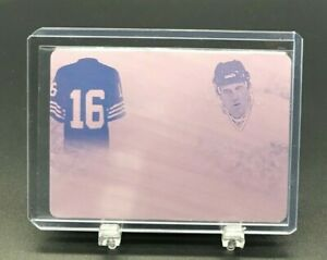 2019 LEAF IN THE GAME USED SPORTS MAGENTA 1/1 LEGENDARY #s MONTANA + HULL (7944