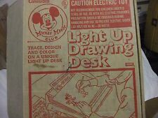 Vintage 1970's Walt Disney Mickey Mouse Club light Up Drawing Desk by Lakeside's