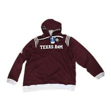 New NWT Texas A&M Aggies Adidas Men's Stripe Pullover Hoodie Sweatshirt XXL 2XL