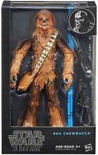 """Guerra DE LAS GALAXIAS la serie negra #04 7.5"""" Chewbacca Figura de Acción HASBRO A6520"""